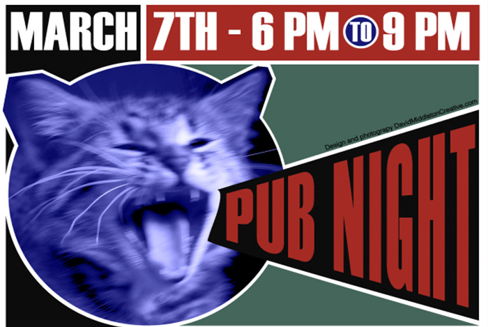 Pub Night is back! March 7th 2015
